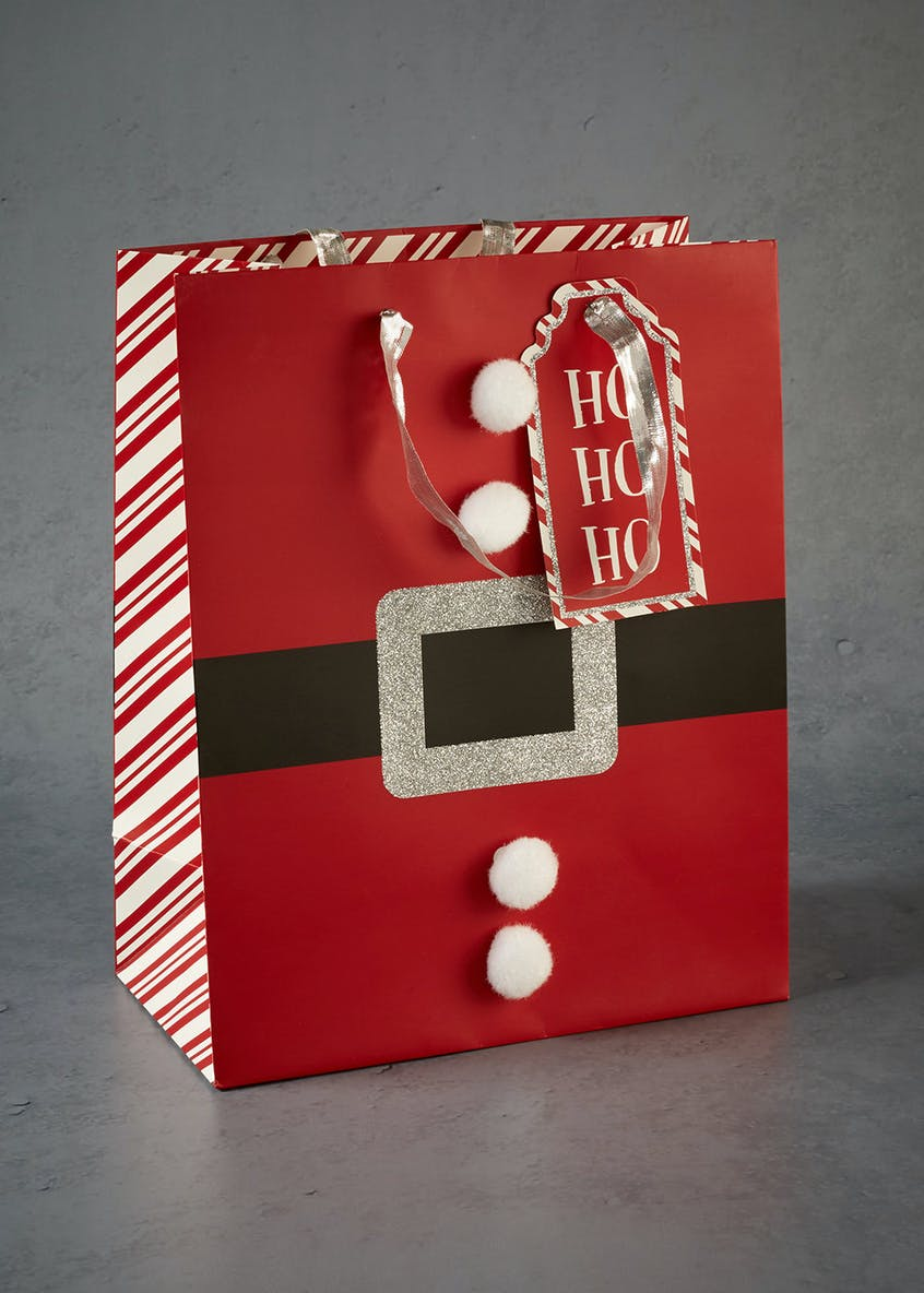 Santa Belly Christmas Gift Bag