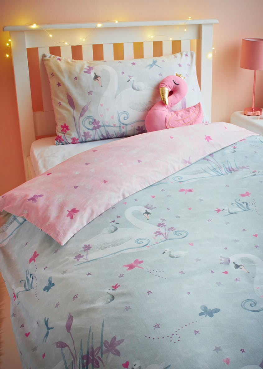 Toddler 100% Cotton Swan Duvet Cover (Small Bed)