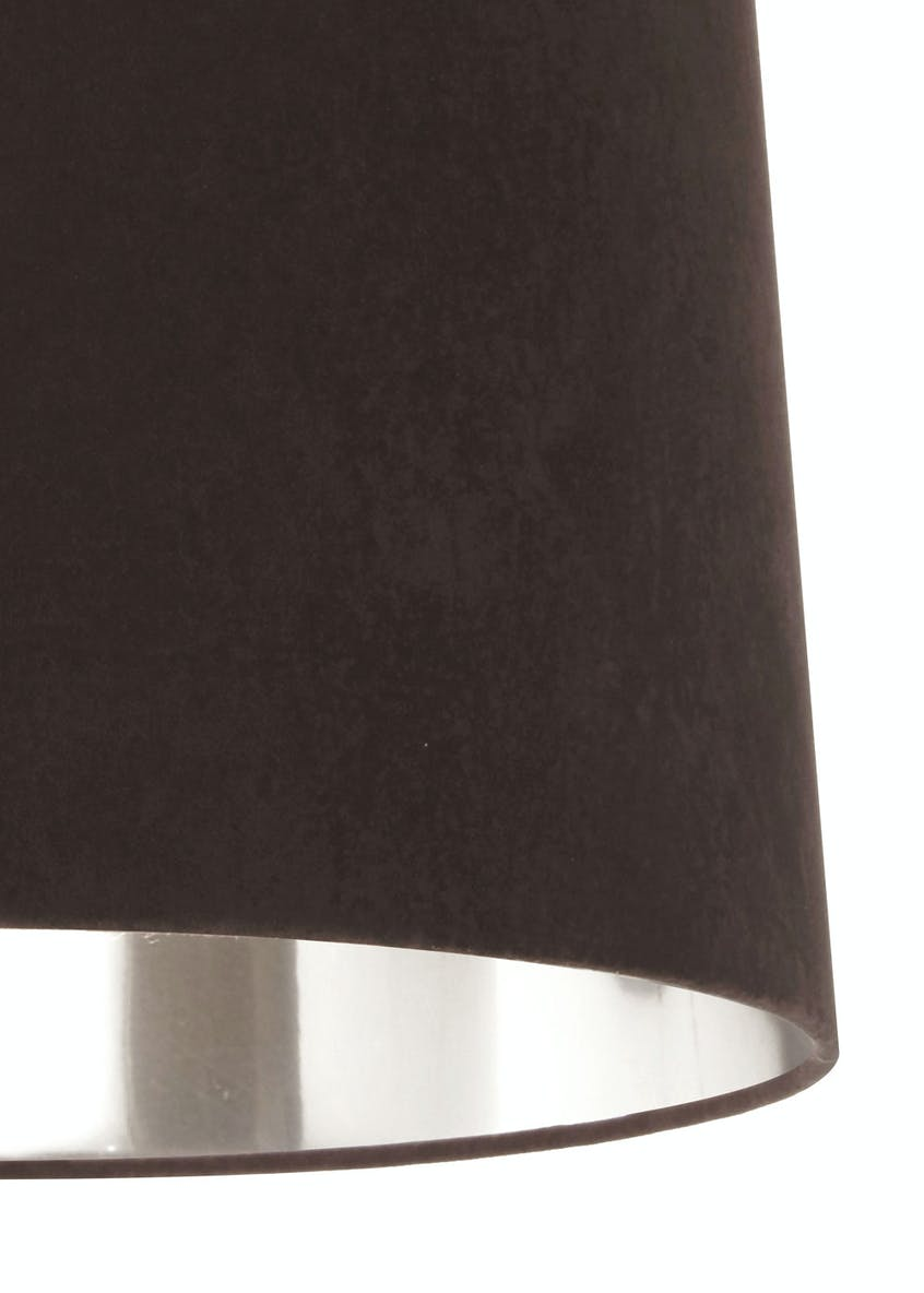 Ada Velvet Drum Easy Fit Lamp Shade (H23cm x W36cm)
