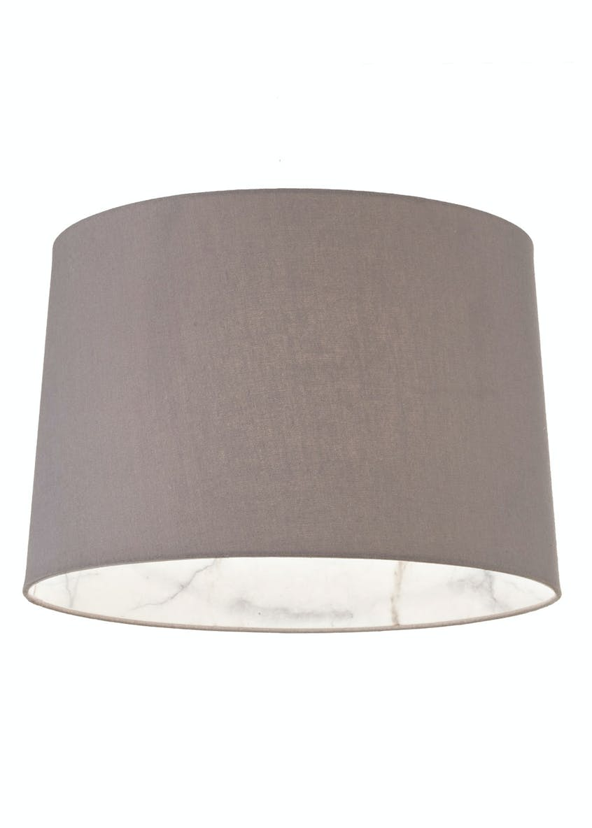 Marble Drum Easy Fit Lamp Shade (W36cm x H23cm)