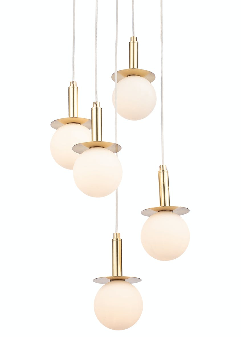 Stella Opal Glass Ball Cluster Light (H50-100cm x W31cm)