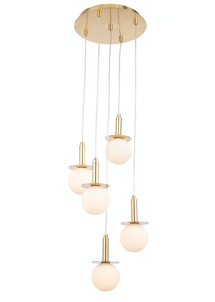 Stella Opal Glass Ball Cluster Light (H100-50cm x W31cm)