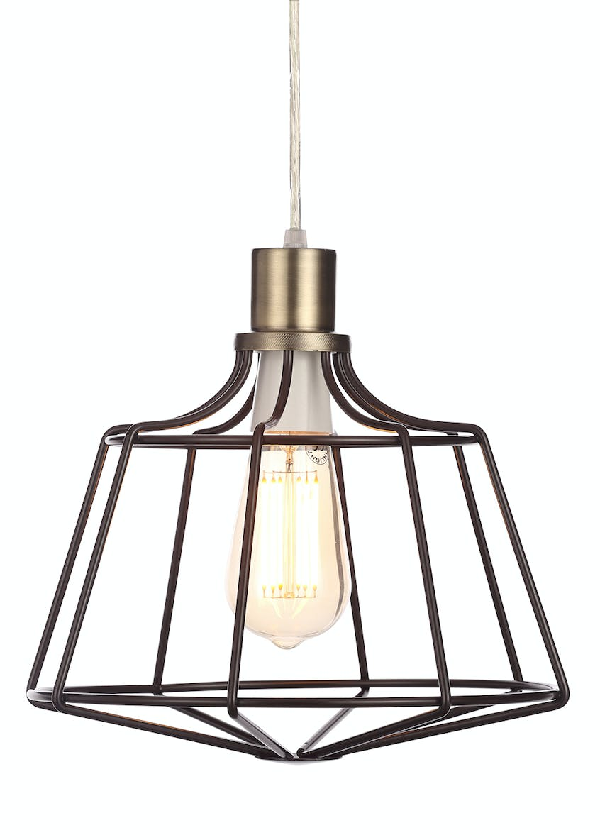 Callisto Caged Easy Fit Lamp Shade (W28cm x H25cm)