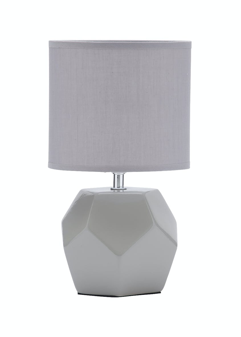 Geometric Ceramic Table Lamp (H30cm x W17cm)