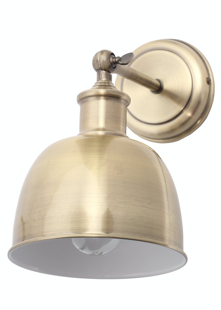Austin Brass Wall Light (H25cm x W16cm)