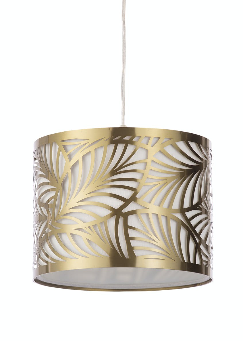 Rio Cut Out Leaf Easy Fit Lamp Shade (H19cm x W25cm)