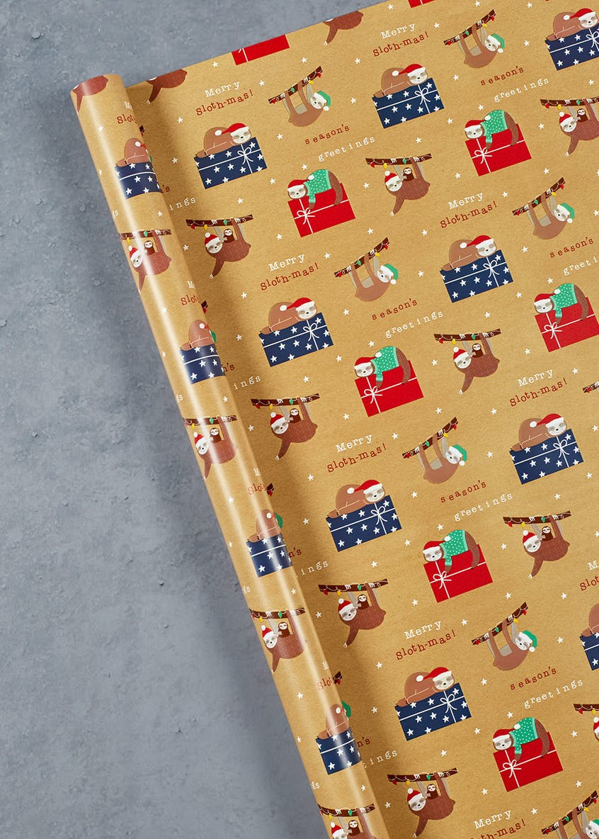 Sloth Christmas Wrapping Paper (4m)