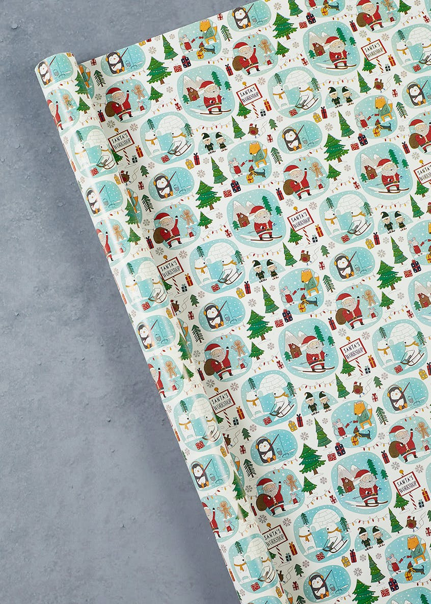 Santa?s Workshop Christmas Wrapping Paper (10m)