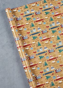 Christmas Pudding Wrapping Paper (4m)