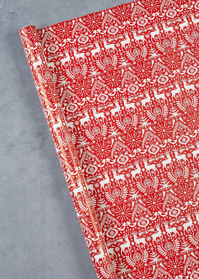 Fair Isle Stag Wrapping Paper (4m)