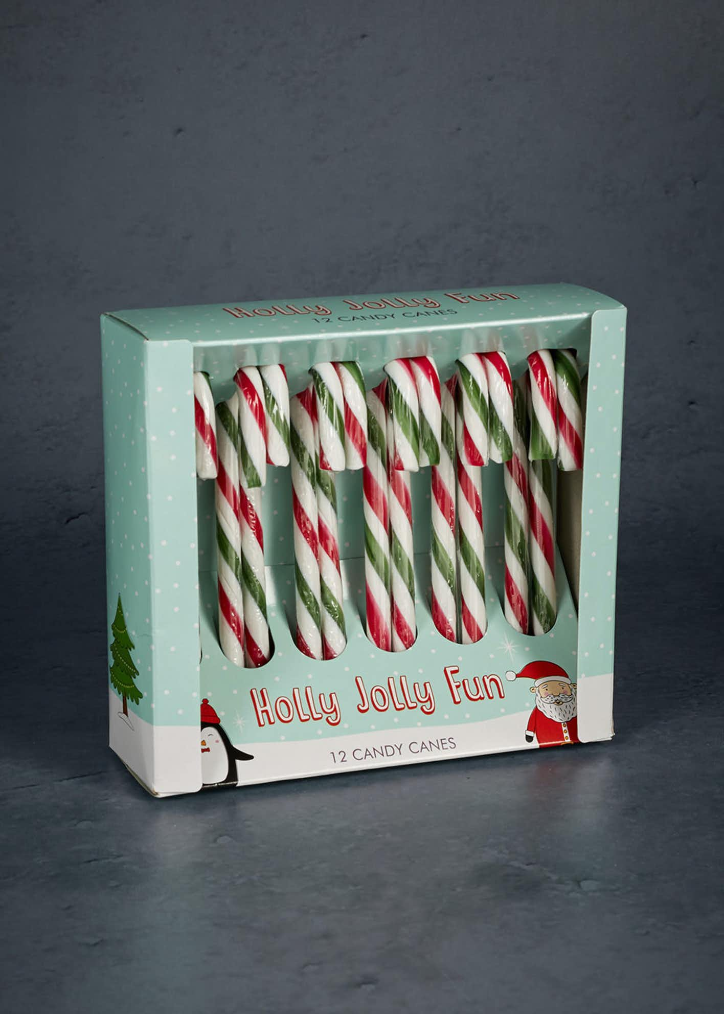 12 Pack Christmas Candy Canes (16cm x 15cm x 5cm)