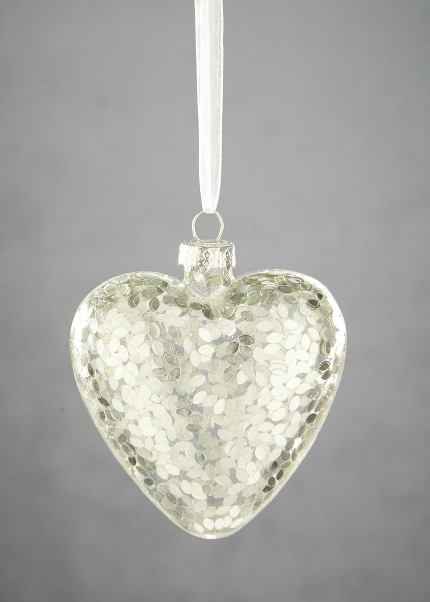 Heart Shaped Christmas Tree Bauble (10cm)