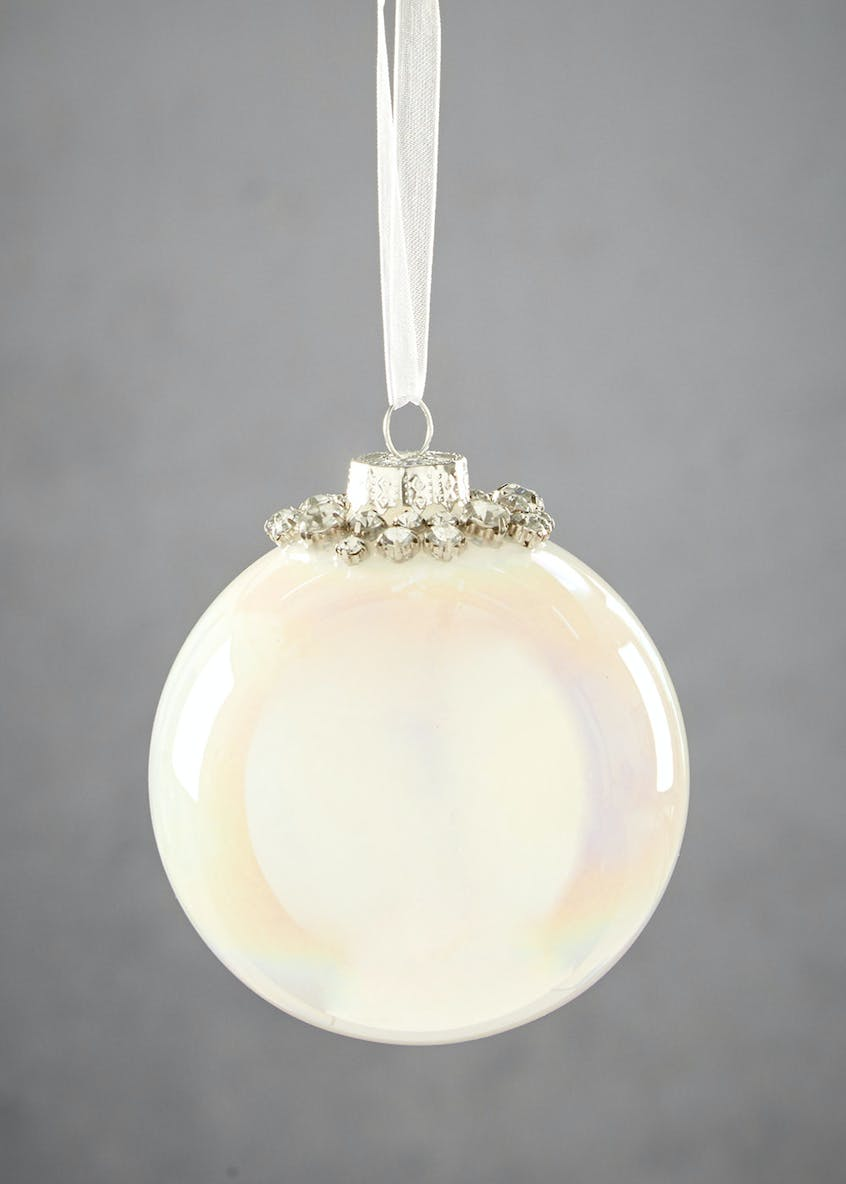 Pearlescent Christmas Tree Bauble (9cm)