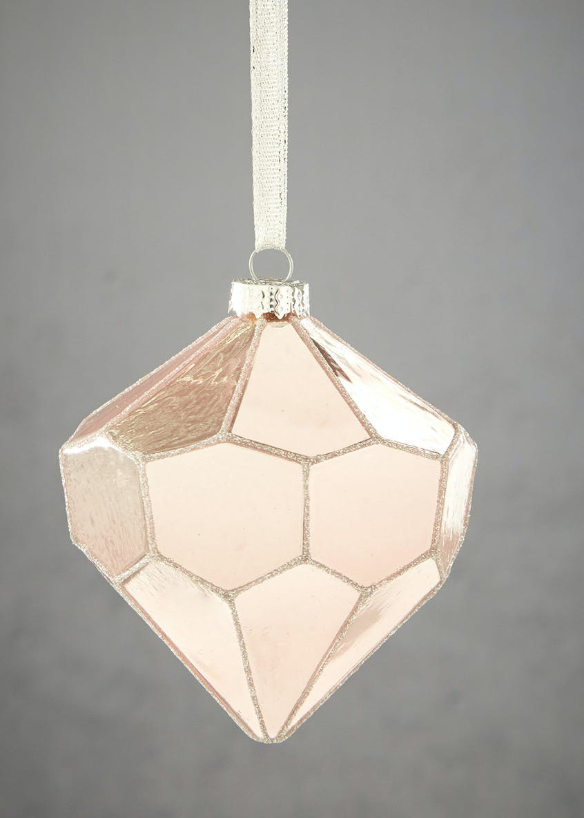 Diamond Shaped Christmas Tree Bauble (10cm)