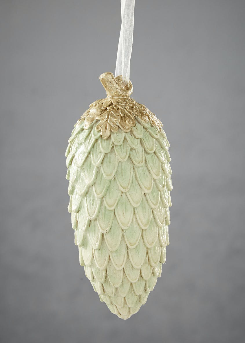 Resin Pinecone Christmas Tree Decoration (15cm)
