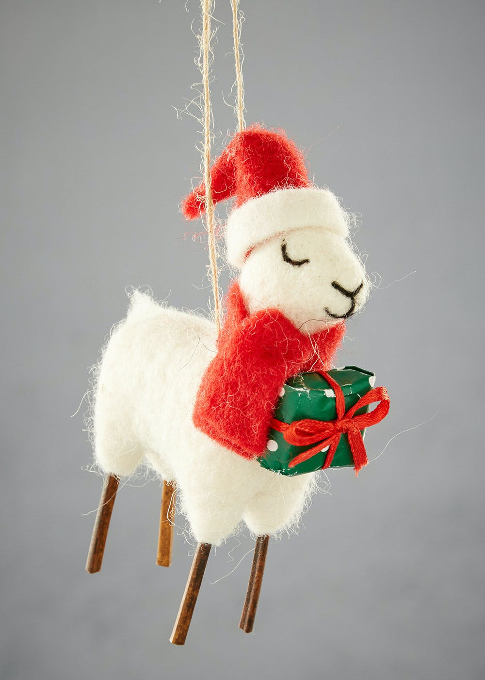 llama christmas decoration 13cm