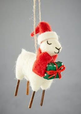 llama christmas decoration 13cm - Llama Christmas Decoration