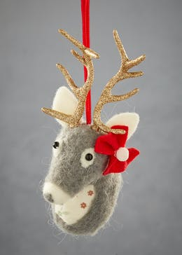 Mrs Stag Christmas Tree Decoration (17cm)