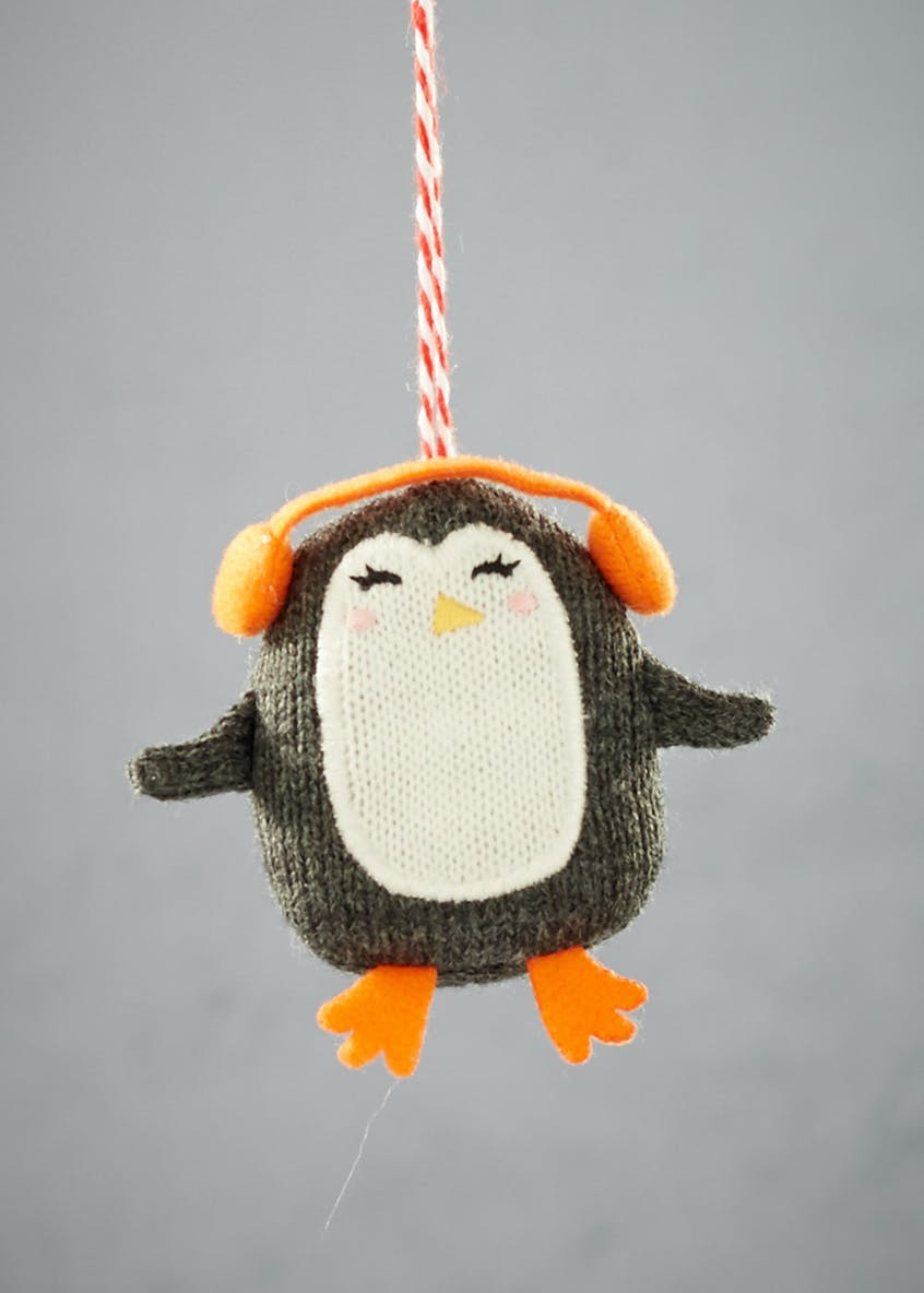 Knitted Penguin Christmas Decoration (7cm)