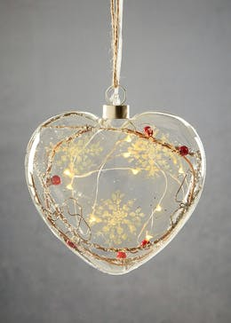 Hanging LED Berry Heart (17cm)