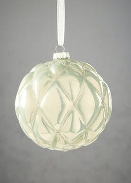 Glitter Quilted Christmas Tree Bauble (11cm)