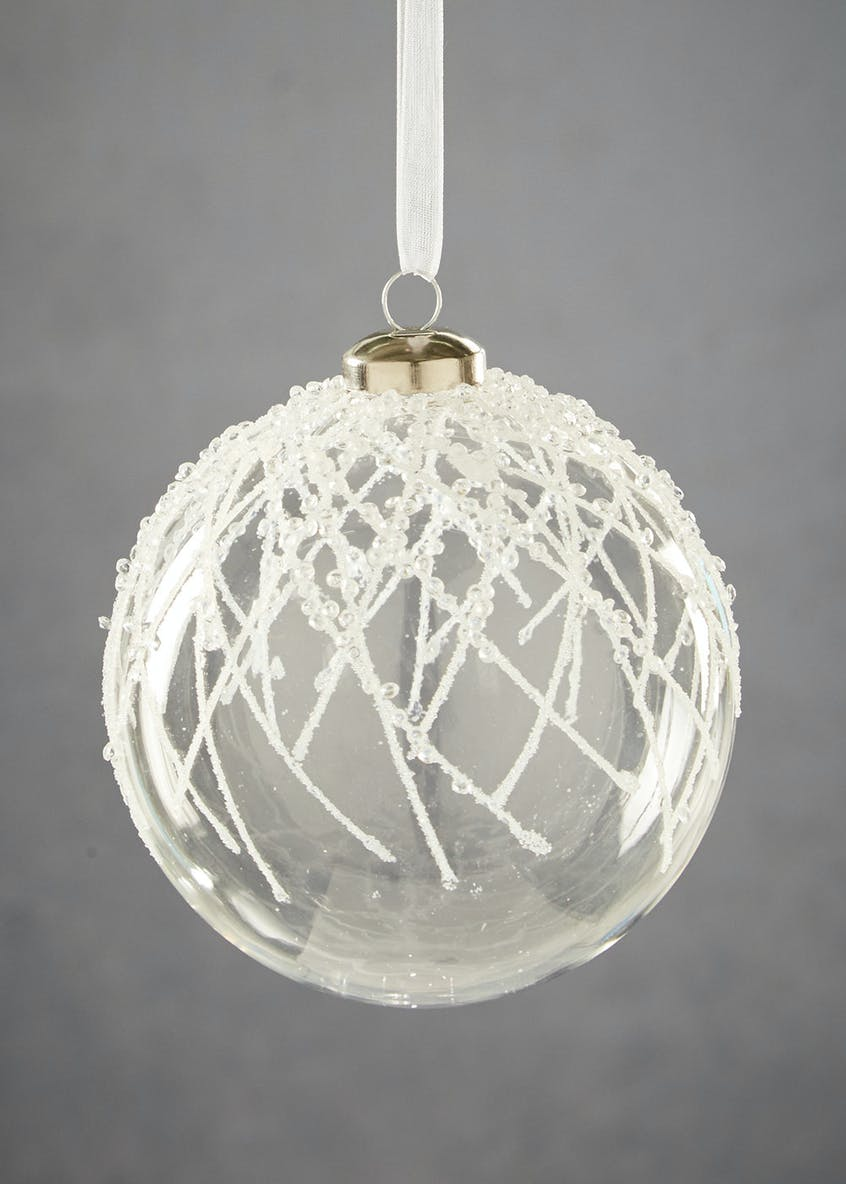 Icicle Christmas Tree Bauble (11cm)