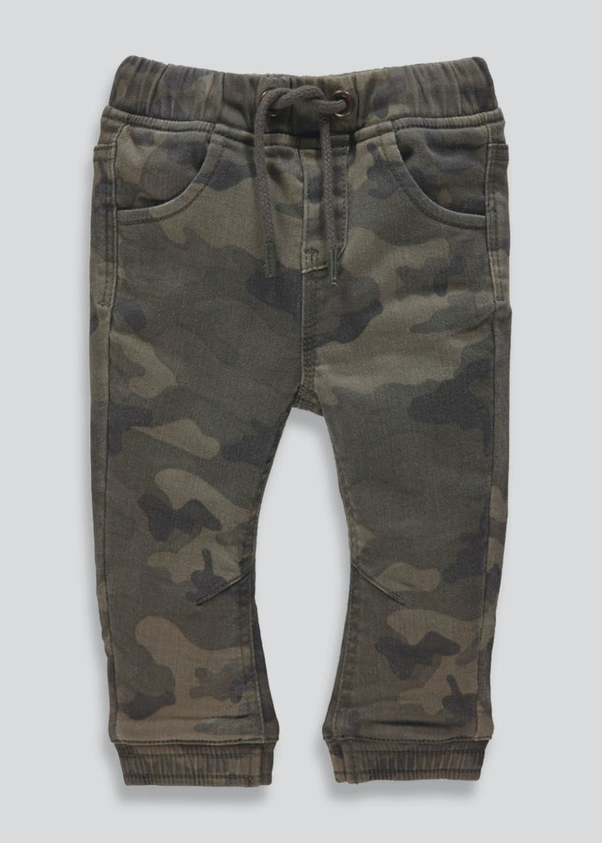 Boys Cuffed Camo Knitted Jeans (3mths-6yrs)