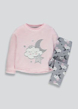 Girls Cloud Pyjama Set (9mths-5yrs)