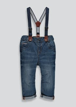 Boys Jeans With Braces 6mths 6yrs