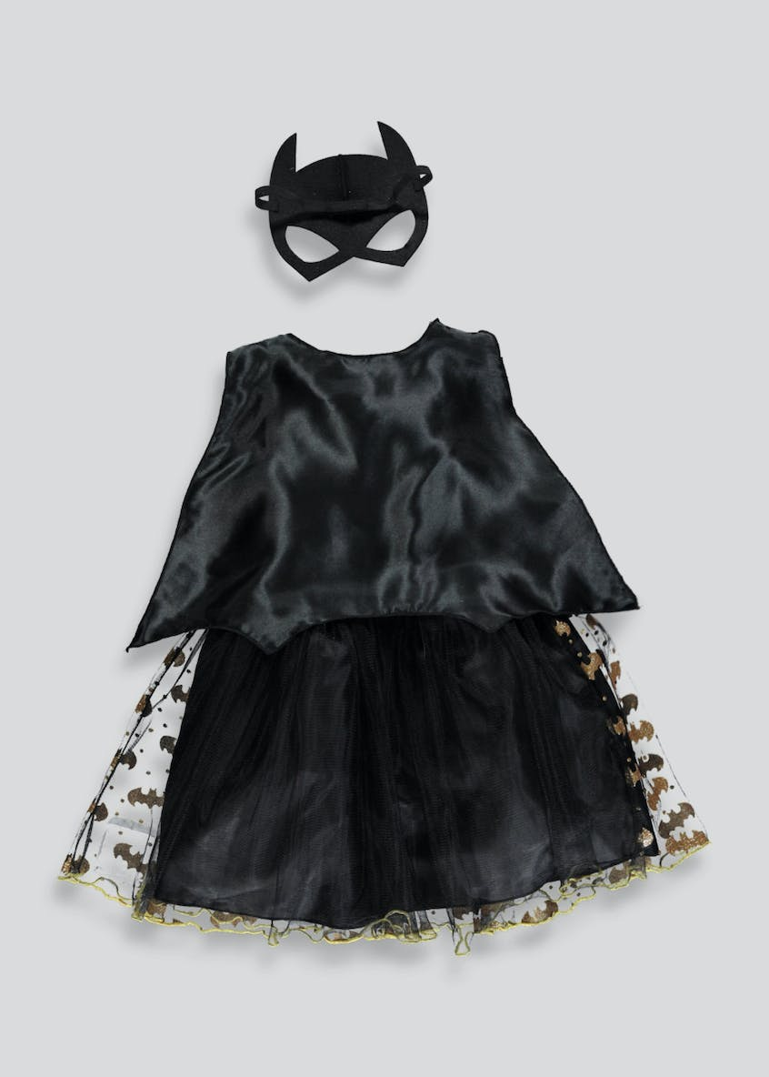 Kids Batgirl Fancy Dress Costume (3-9yrs)