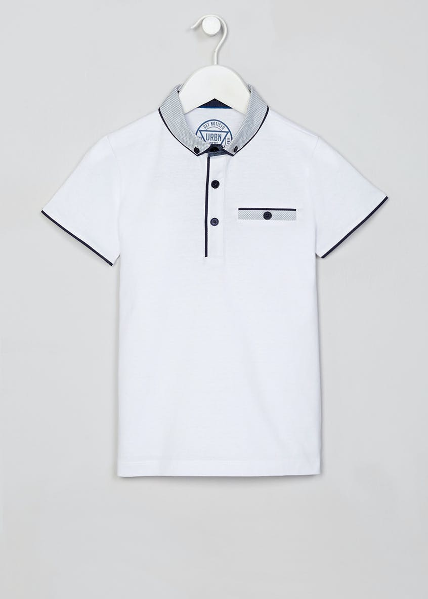 Boys Geo Collar Polo Shirt (4-13yrs)