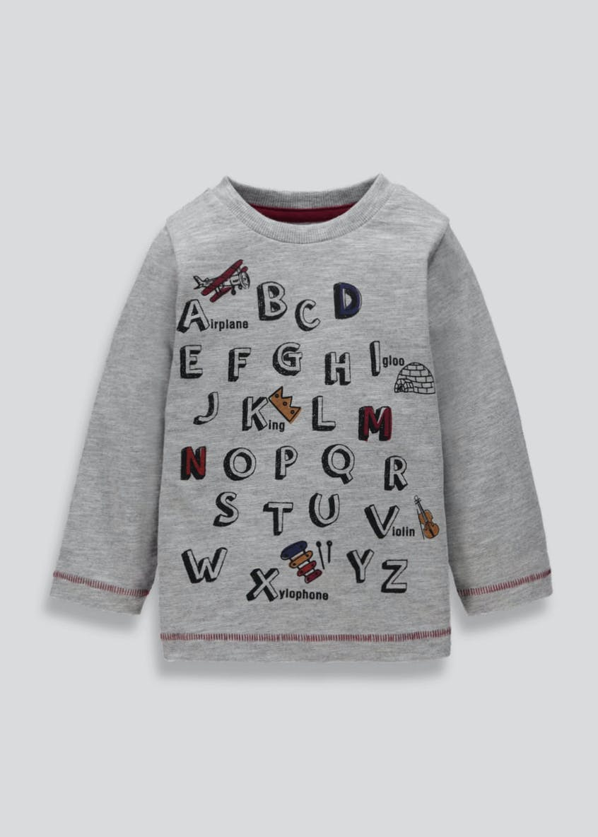 Kids ABC Long Sleeve T-Shirt (3mths-5yrs)