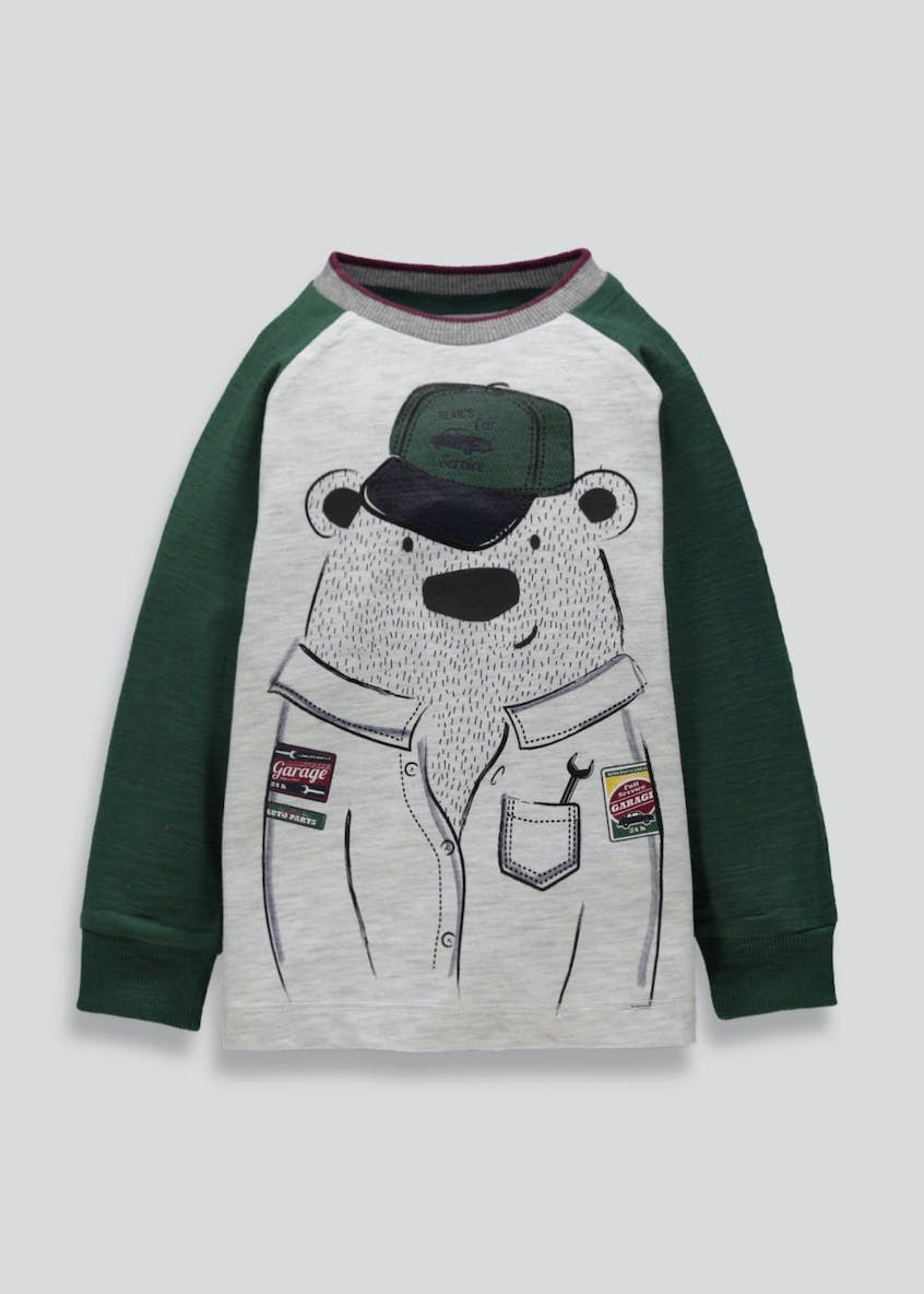 Kids Bear Long Sleeve T-Shirt (6mths-5yrs)