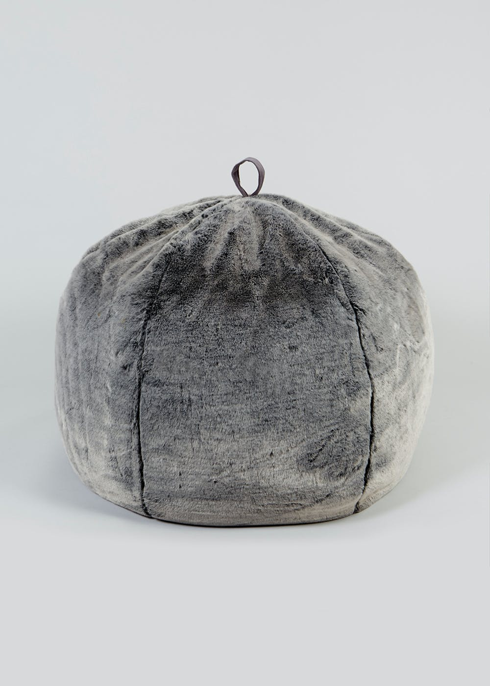 4584b06532ed Faux Fur Bean Bag (89cm x 89cm) – Grey – Matalan
