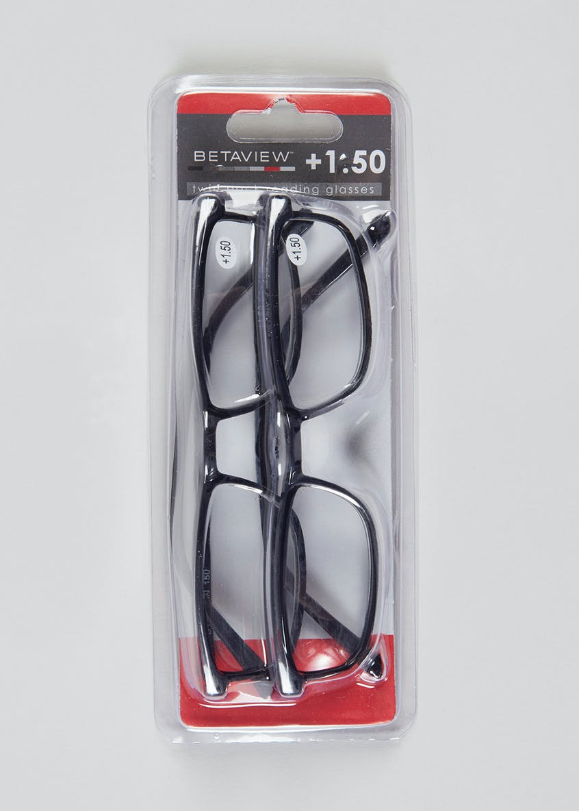 Unisex 2 Pack Reading Glasses (+1.50)