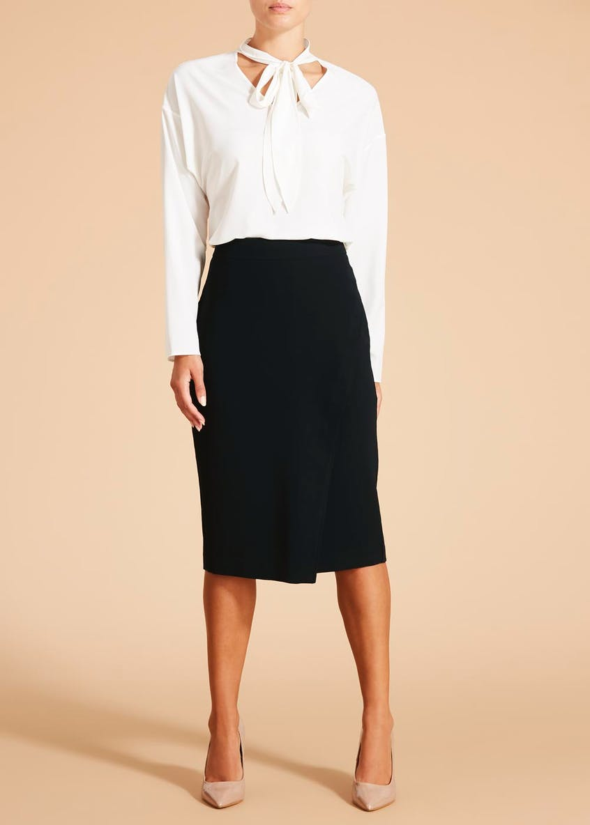 FWM Tailored Wrap Midi Skirt