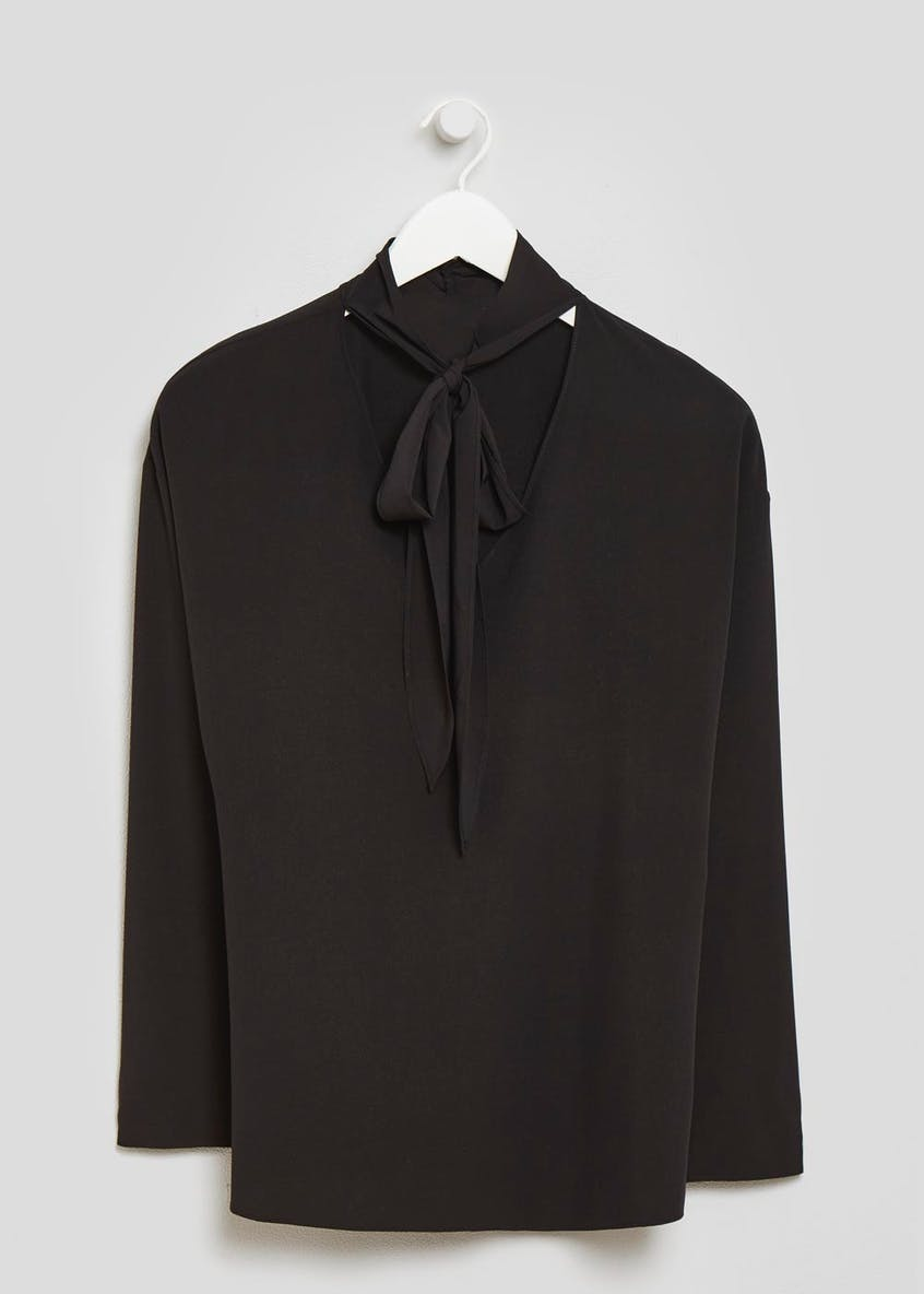 FWM Tie Neck Pussybow Blouse