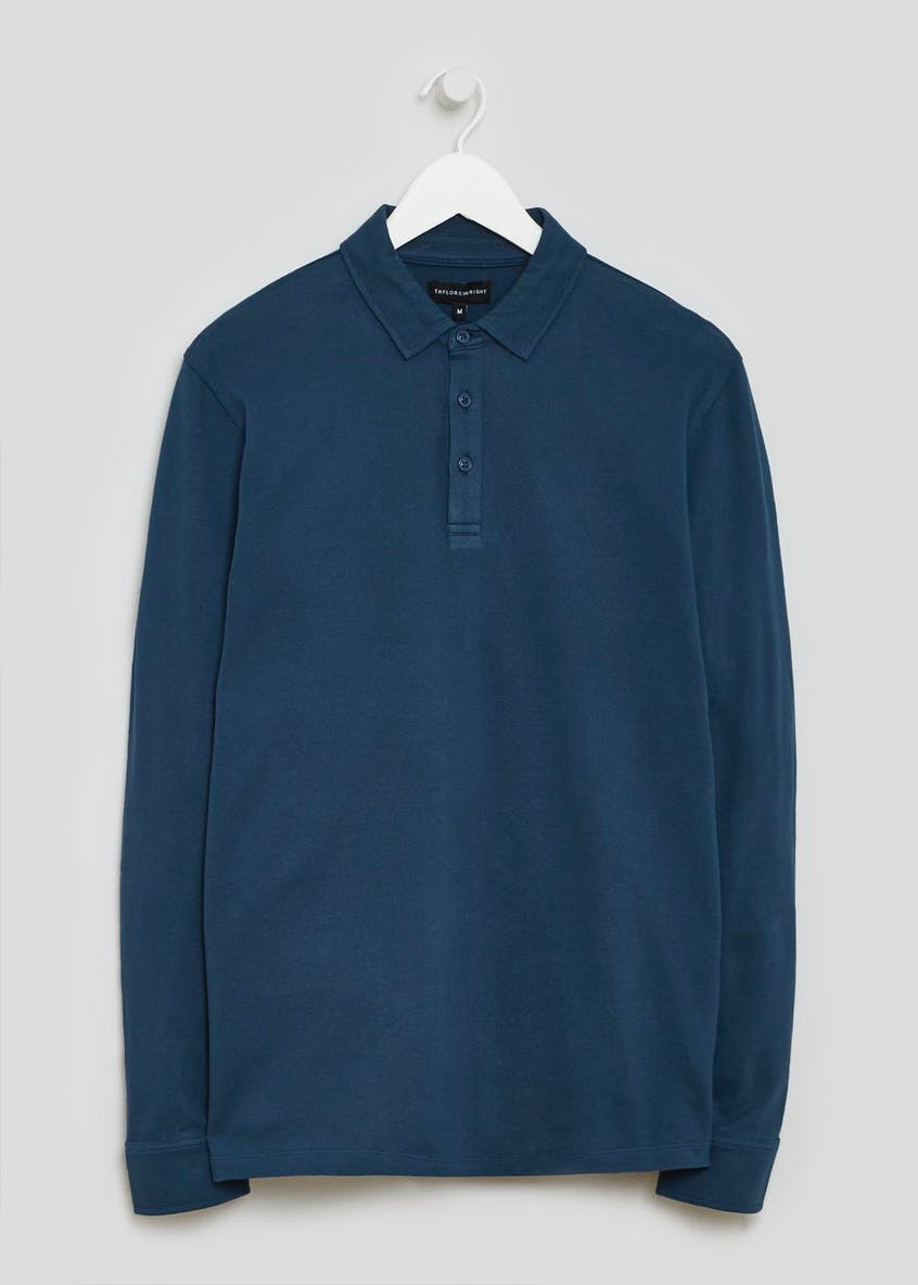 Adlington Mercerised Long Sleeve Polo Shirt