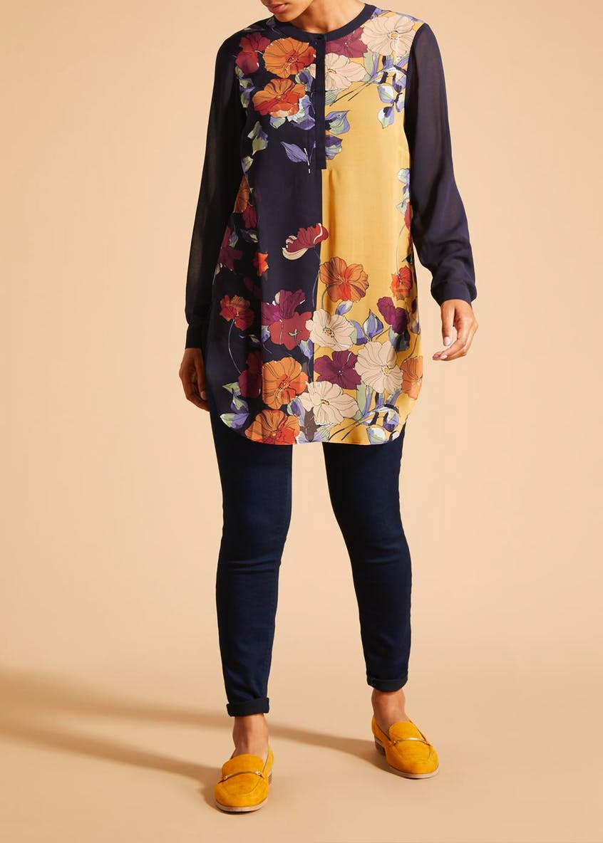 Soon Grace Floral Side Tunic