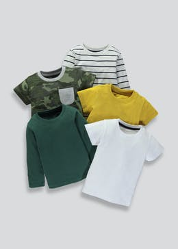 Boys 5 Pack T-Shirts (3mths-6yrs)
