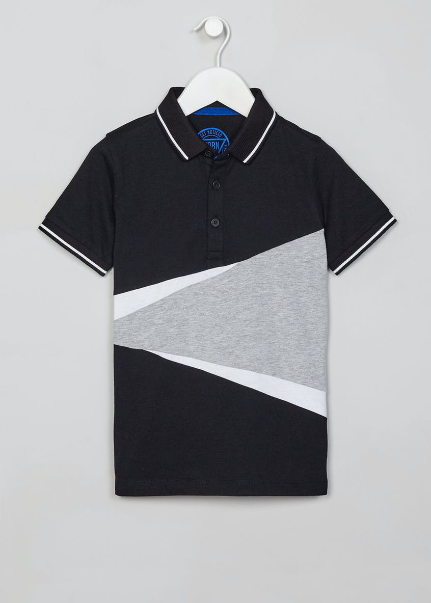Boys Cut and Sew Polo Shirt (4-13yrs)