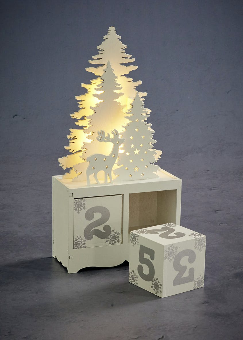 LED Mini Christmas Advent Calendar (14cm x 12cm x 6cm)