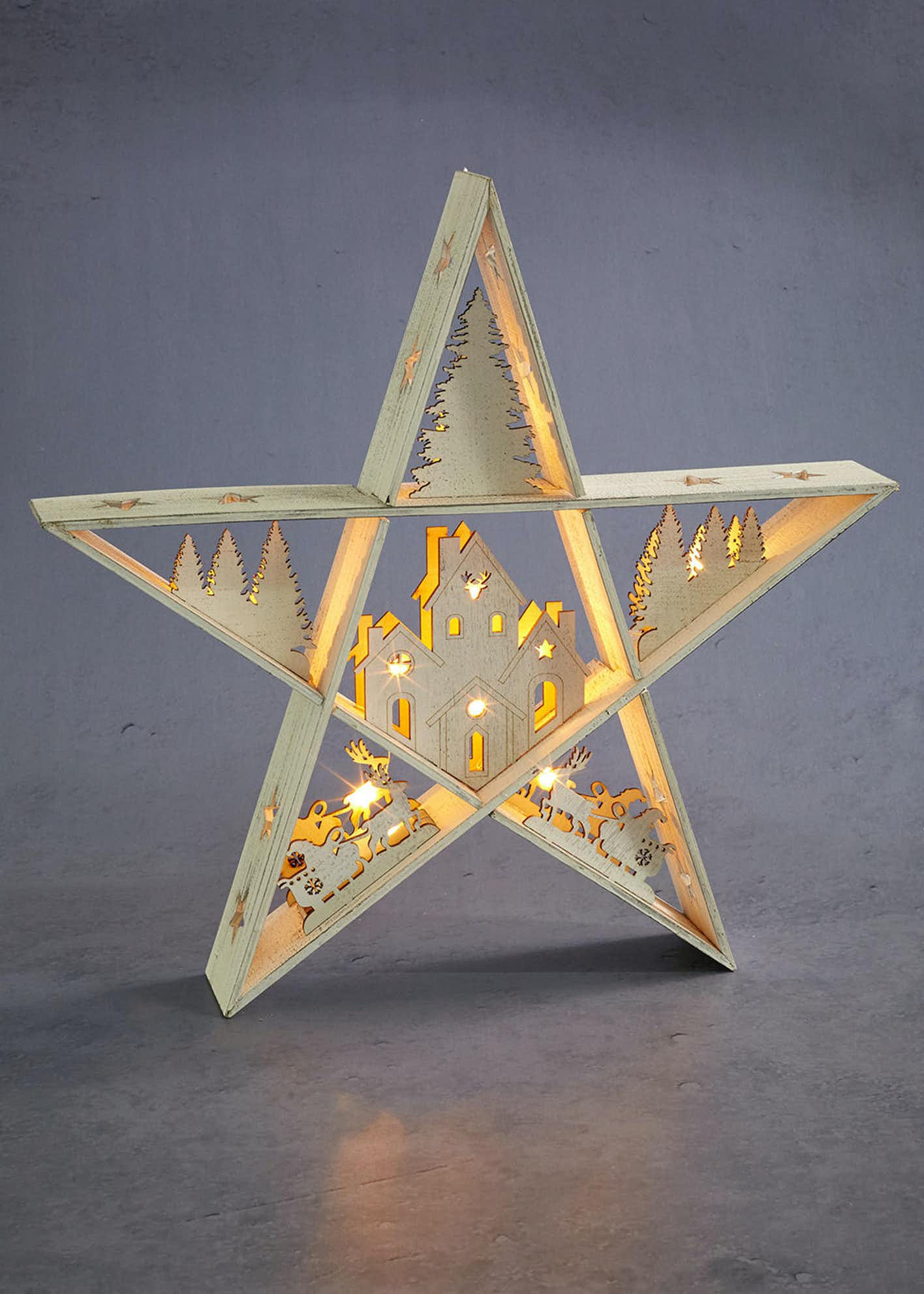 LED Star Christmas Decoration (40cm x 38cm)