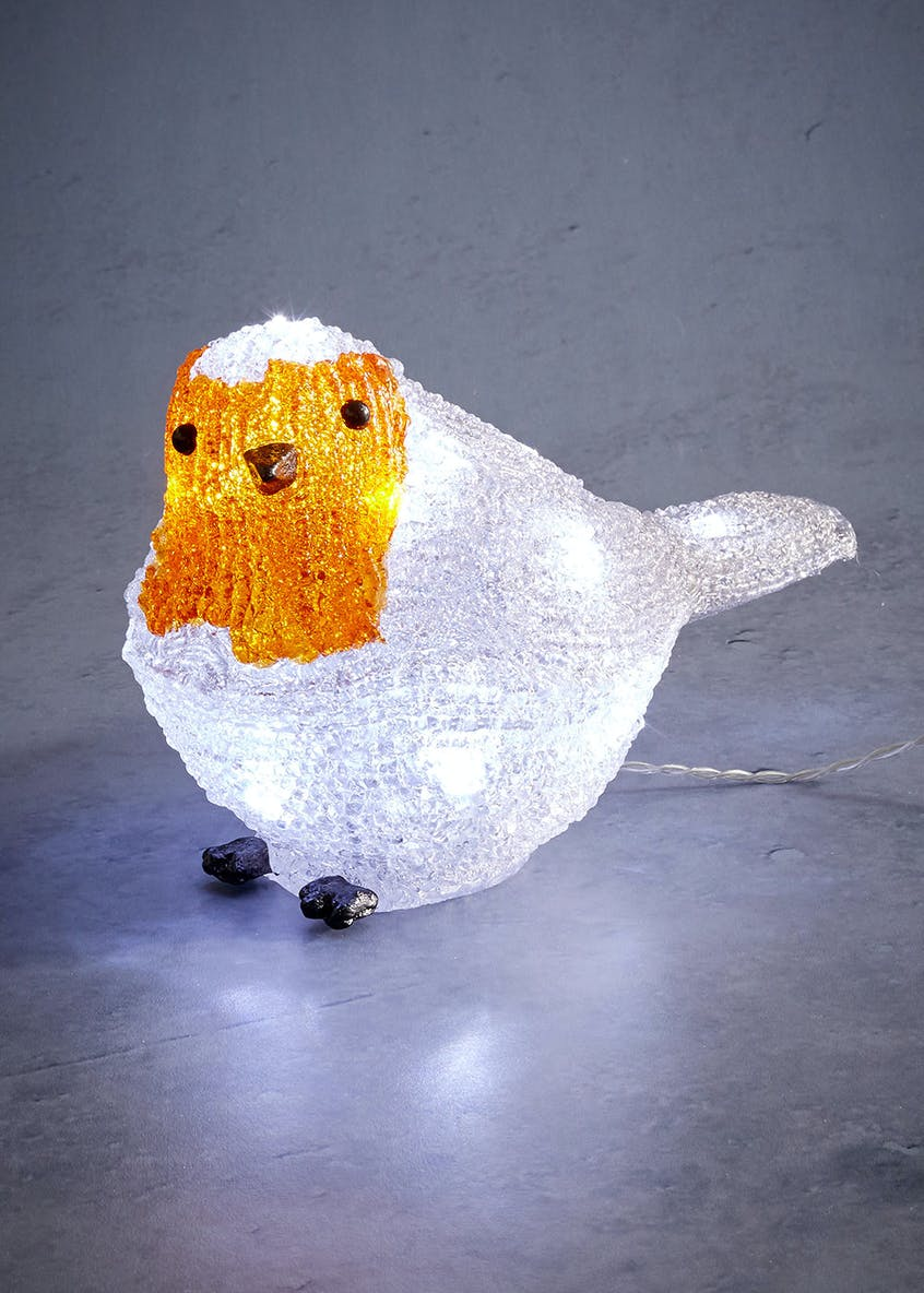 LED Robin Christmas Decoration (14cm)