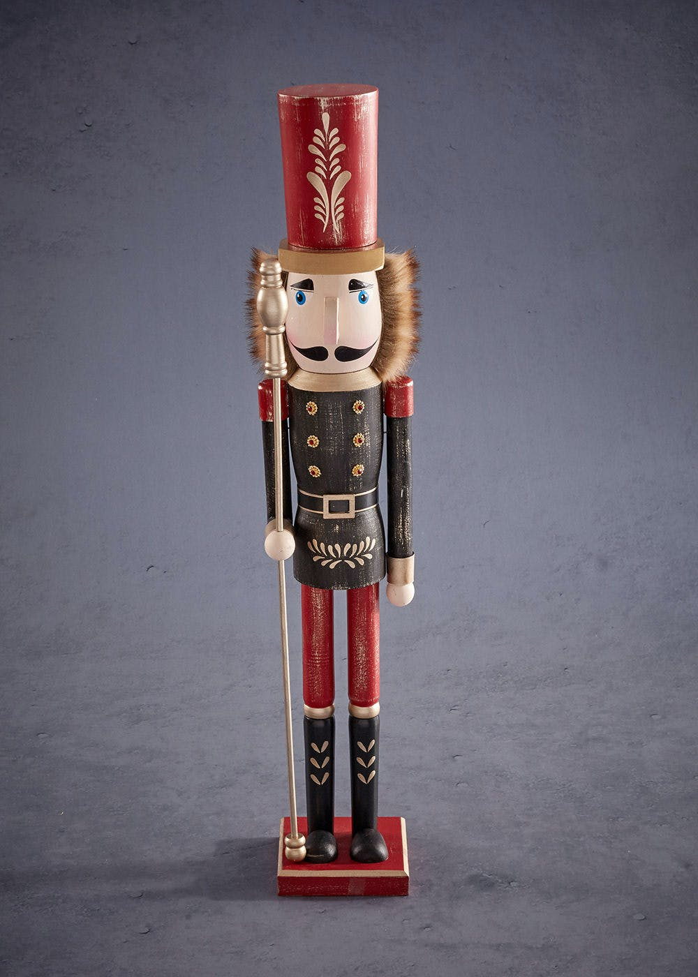 large nutcracker christmas decoration 60cm x 10cm
