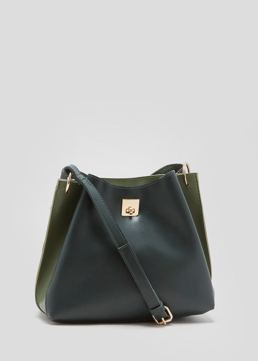 Two Tone Bucket Bag