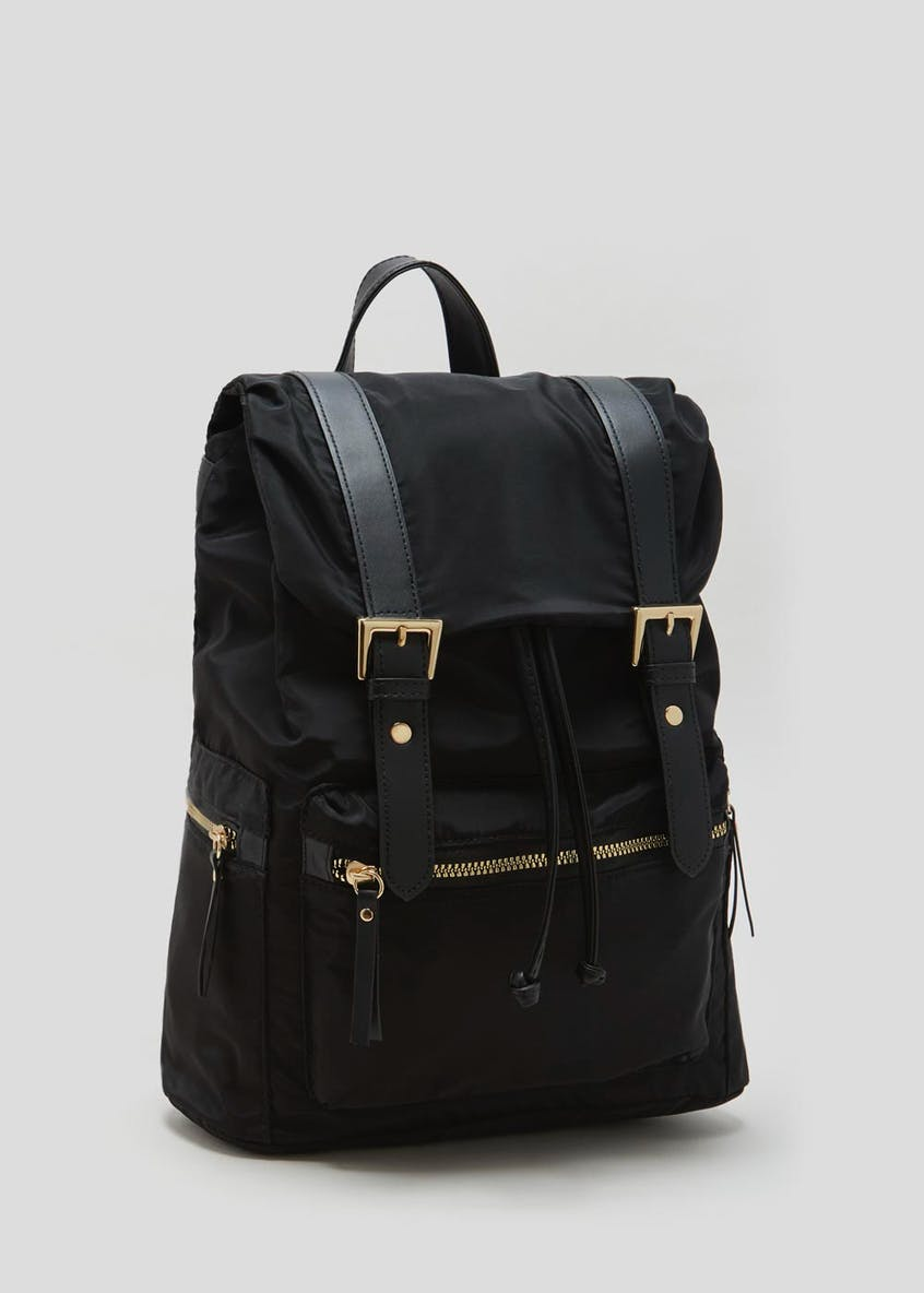 Classic Buckle Satchel Backpack