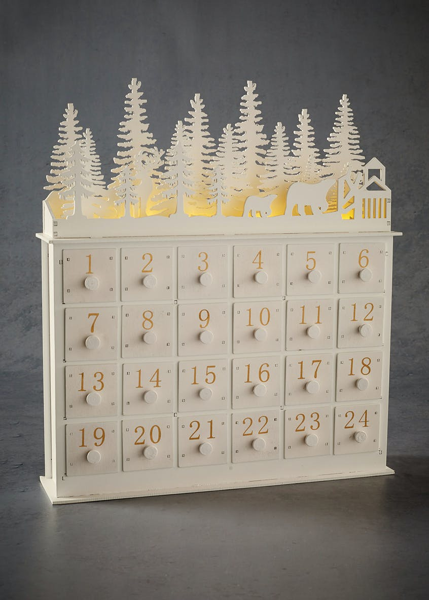 LED Christmas Advent Calendar (35cm x 30cm x 7cm)