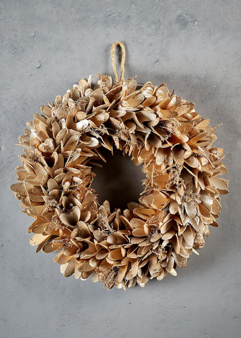Metallic Christmas Wreath (37cm)