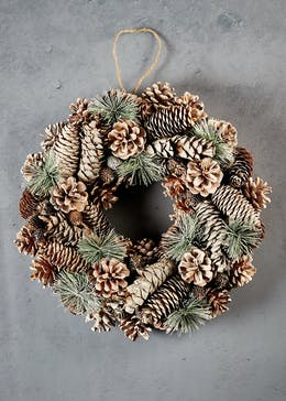 Pinecone Christmas Wreath (37cm)